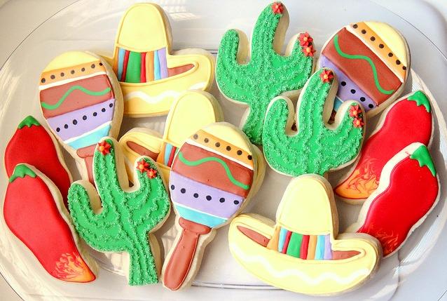 Mexican sugar cookies flaming hot fiesta cookies via