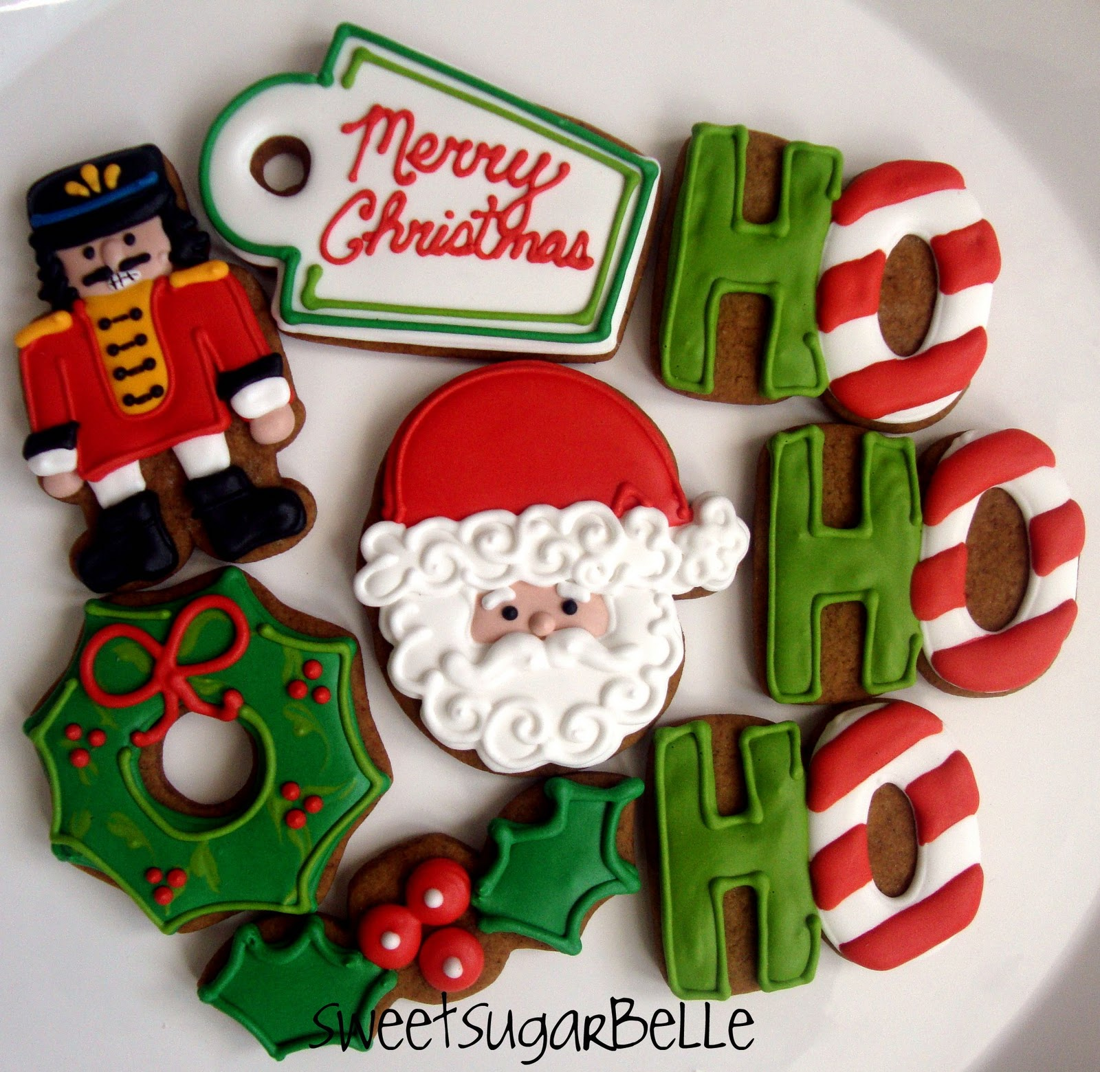 can you guess what cutters i used to make these - Creative Christmas Cookies