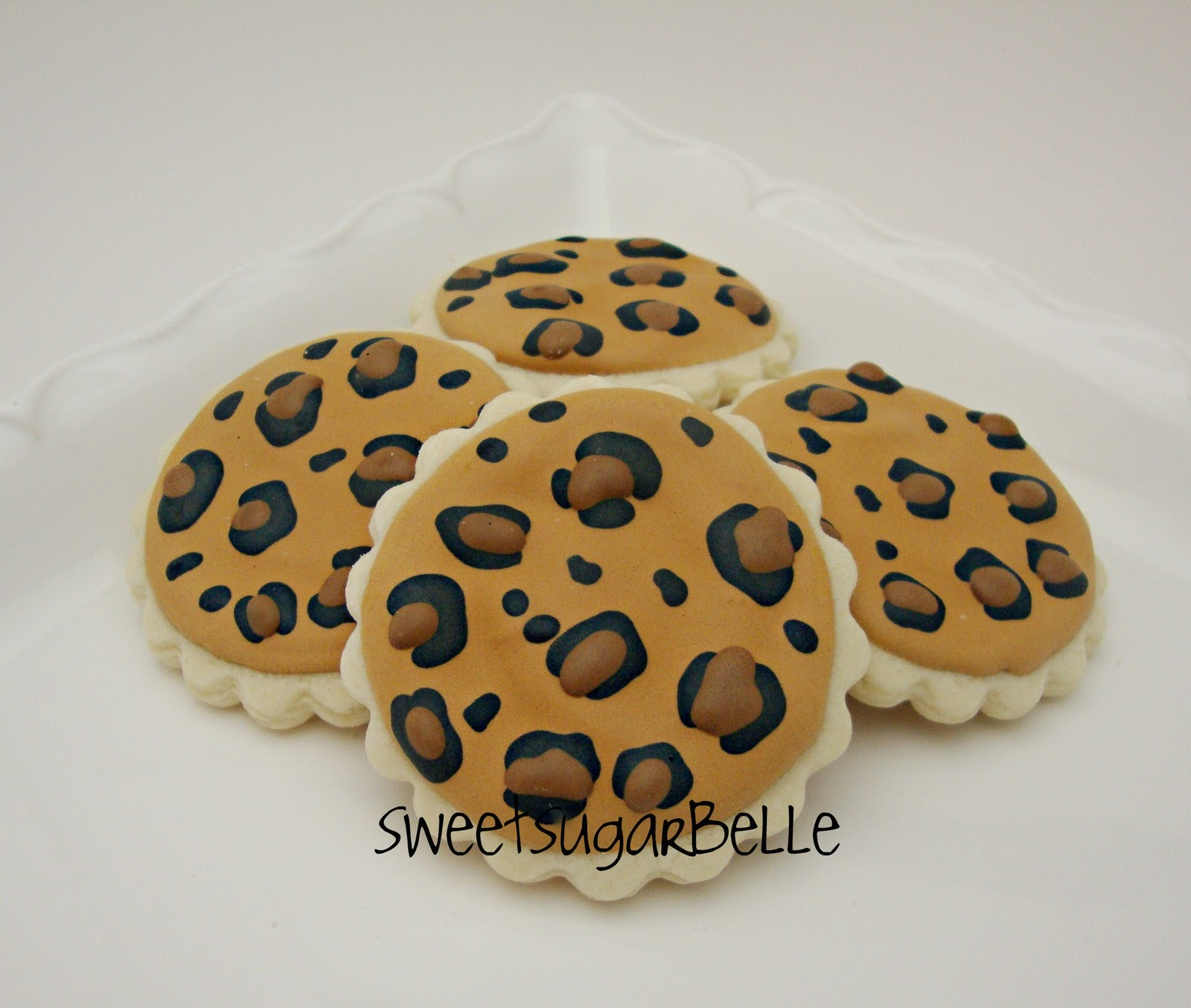 Leopard print cookie tutorial the sweet adventures of sugar belle thecheapjerseys Choice Image